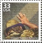 Stamps United States -  CELEBRAR  EL  SIGLO.  MONUMENTO  A  LOS  VETERANOS  DE  VIETNAM.