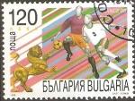 Sellos de Europa - Bulgaria -  CAMPEONATO  MUNDIAL  FRANCIA  1998.  LEÒN  MASCOTA  Y  VARIOS  ESTILOS  DE  JUEGO.