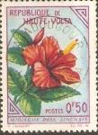 Stamps Burkina Faso -  FLORES.  HIBISCUS  ROSA  SINENSIS.