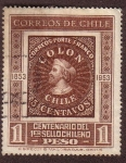 Stamps : America : Chile :  Centenario del 1er Sello Chileno