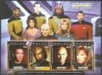 Stamps Oceania - Palau -  2443 a 2446 - Star Trek, película de ciencia ficción