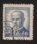 Stamps Czechoslovakia -  Presidente Tomáš Garrigue Masaryk