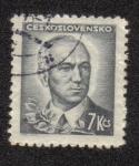 Stamps Czechoslovakia -  Edward Benes, presidente checo
