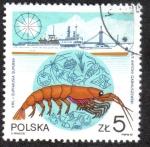Stamps Poland -  Krill. Euphausia superba