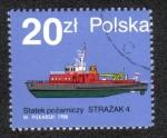 Stamps Poland -  Nave de Bomberos 4