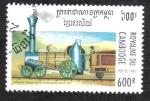 Sellos del Mundo : Asia : Camboya : El Numero 1 en la locomotora en el torneo maugure Sector-Darlintong 1826