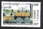 Stamps Cambodia -  Lafayette ferrocaril Baltimore-Ohio 1837