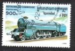 Sellos del Mundo : Asia : Camboya : Locomotora