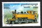 Sellos del Mundo : Asia : Camboya : Locomotora 1930