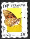 Stamps Cambodia -  Mesoacidalia Aglaja