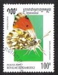 Sellos de Asia - Camboya -  Anthocharis Cardamines