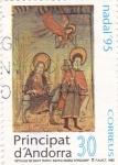 Stamps Andorra -  NADAL-95 - retaule de Sant marc i Santa María D'Encamp