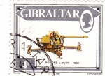 Stamps Gibraltar -  BOFORS L40/70-1951