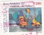 Sellos de America - Venezuela -  UPAEP- Vicisitudes del cartero