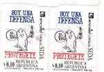 Stamps of the world : Argentina :  SOY UNA DEFENSA- PROTEGETE- SIDA