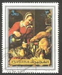 Stamps United Arab Emirates -  Fujeira - Cuadro