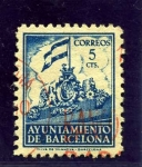 Stamps Spain -  Barcelona. Frontispicio del Ayuntamiento