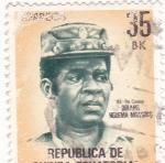 Stamps Equatorial Guinea -  TENIENTE CORONEL OBIANG