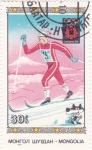 Stamps Mongolia -  SARAJEVO-84 esquí de fondo