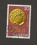 Sellos de Europa - Suiza -  100 Aniv de la Sociedad Suiza de Numismática