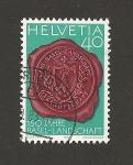 Sellos de Europa - Suiza -  150 Aniv. de la división cantonal de Basilea