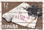 Stamps Spain -  Homenaje a la Prensa  (12)