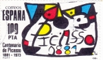 Stamps Spain -  Centenario de Piccaso 1881-1973  (12)