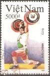 Stamps Vietnam -  JUEGOS  OLÌMPICOS  BARCELONA  92.  LEVANTAMIENTO  DE  PESAS.