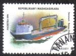 Sellos de Africa - Madagascar -  Barco Polivalente Dinamarca