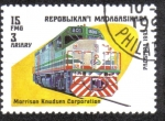 Stamps Madagascar -  Locomotora Morrison knudsen corporation