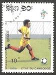 Sellos de Asia - Camboya -  Mundial de fútbol Italia 90