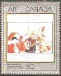 Stamps Canada -  CAPUCHINAS  ROJAS  PINTURA  DE  DAVID  MILNE