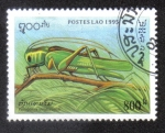 Sellos del Mundo : Asia : Laos : Tettigonia viridissima