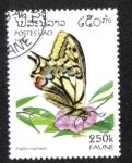 Sellos del Mundo : Asia : Laos : Cola de golondrina (Papilio machaon)