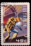 Stamps Australia -  comic ciencia ficción