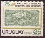 Stamps : America : Uruguay :  75 Aniversario Bco. Oriental del Uruguay