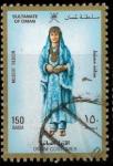Stamps Asia - Oman -  MUJER CON TRAJE TIPICO