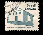 Stamps Brazil -  Iglesia de S, Lorenzo de los indios. Niteroi