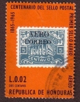 Stamps : America : Honduras :  Centenario del sello postal