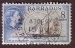 Stamps : America : Barbados :  Inter Colonial Schooner