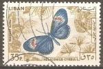 Stamps Lebanon -  MARIPOSAS.  HELICONIUS  CYRBIA.
