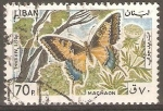 Stamps Lebanon -  MARIPOSAS.  MACHAON.