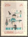 Stamps Lebanon -  NIÑO  REALIZANDO  SUS  TAREAS  ESCOLARES