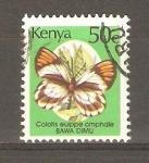 Stamps Kenya -  MARIPOSAS.  COLOTIS  EUIPPE  OMPHALE