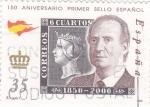 Stamps Spain -  150 aniversario primer sello español (12)