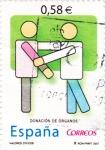 Sellos de Europa - España -  Valores Cívicos-Donación de Organos (12)