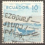 Stamps Ecuador -  PESCADORES DE  MANTA  PROVINCIA  DE  MANABI