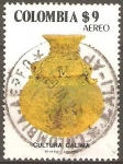 Stamps of the world : Colombia :  URNA.  CULTURA  CALIMA.