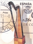 Stamps Spain -  Arpa-Instrumentos musicales (12)
