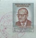 Stamps Honduras -  SELLO  DE  AEROGRAMA.  JOSÈ  RAMÒN  VILLEDA  MORALES,  PRESIDENTE  DE  HODURAS.